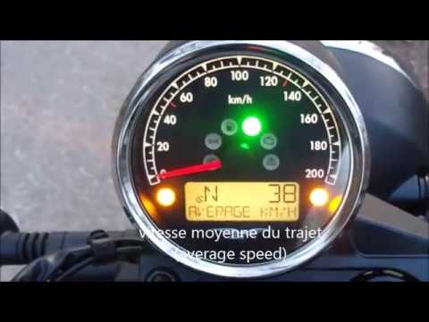 MOTO GUZZI v7 III Stone, digital lcd display