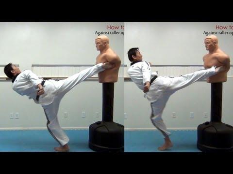 Taekwondo: How to fight - against taller opponent (taekwonwoo)