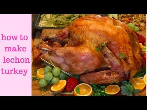 how to make lechon turkey (Filipino inspired roasted turkey)