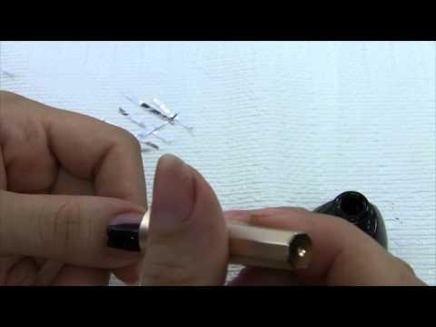 Design nail with aluminium foil تزيين الاظافر باستخدام ورق الالمنيوم