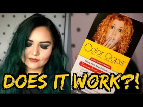 DOES IT WORK?! || Color Oops Hair Dye Remover