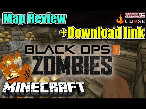 MINECRAFT - PS3 - BLACK OPS ZOMBIES - MAP REVIEW + DOWNLOAD LINK ( PS4 )