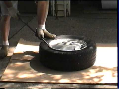 4  car tires  dismounted and mounted by   hand in 20 minutes
