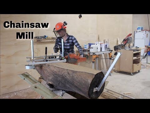 Crazy Simple Chainsaw Mill : How To Slab Logs