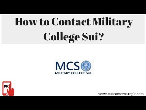 Military College Sui Address, Phone Number, Email ID, Website