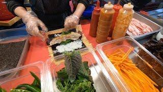 Download [South Korea:Busan] Street Food Bacon(pork belly) KimBob Video