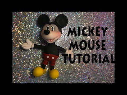 HOW TO MAKE MICKEY MOUSE TUTORIAL  | CLAY FIGURINE | CAKE TOPPER | Cup n Cakes Gourmet
