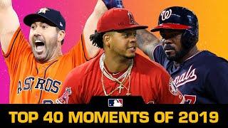 Top 40 Moments of the 2019 MLB Season
