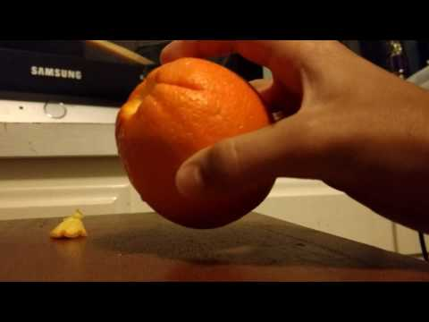 How to make a pipe out of a orange