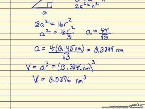 Calculate Metal Density