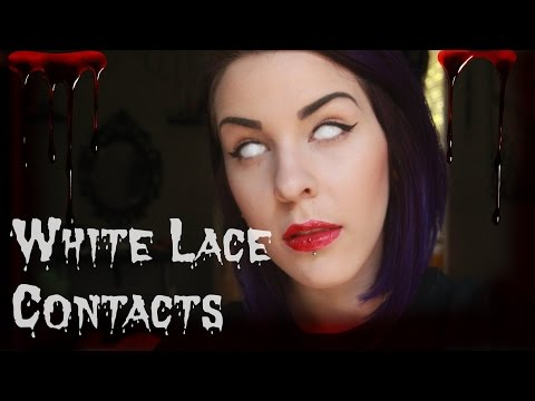 WHITE LACE CONTACTS | #VLOGTOBER