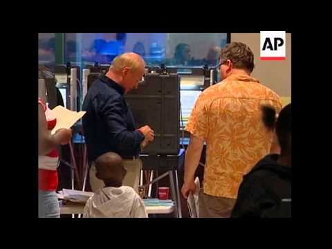 Record crowds have shown up at polls in Florida and voters are waiting hours to cast their ballots.