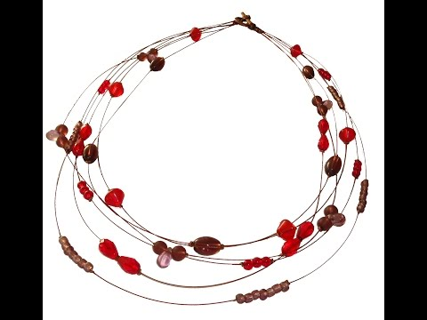 How to make a Multi -Strand TigerTail Necklace