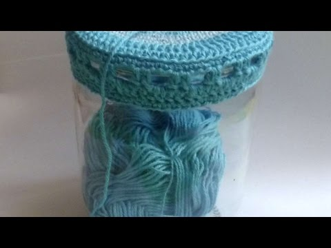How To Crochet A Cute Jar Lid - DIY Crafts Tutorial - Guidecentral