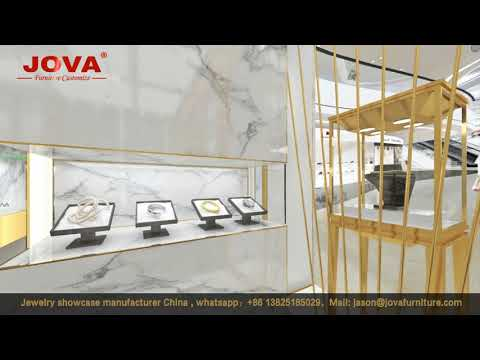 luxury jewellery shop interior design 3d