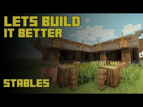 Minecraft Build Tutorial Showcase: Simple And Easy Horse Stable