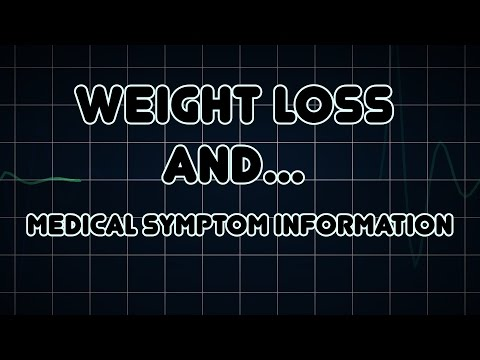 Weight loss and Hyperglycemia (Medical Symptom)