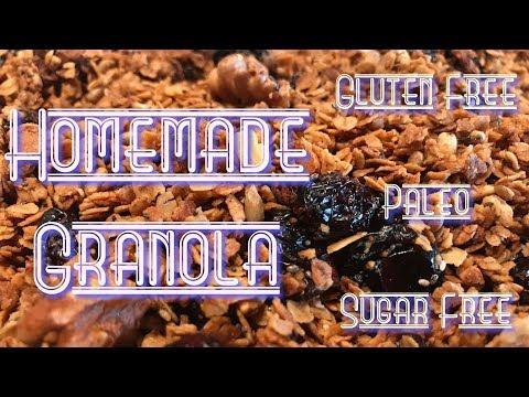 Homemade Granola // Paleo Recipe // Gluten & Sugar Free // Living W/ Fibromyalgia