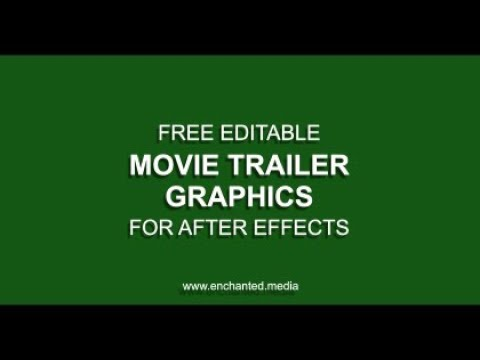 Movie Trailer Graphics - Free After Effects Project