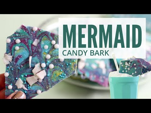 HOW TO MAKE MERMAID CANDY BARK (easy & fun!)