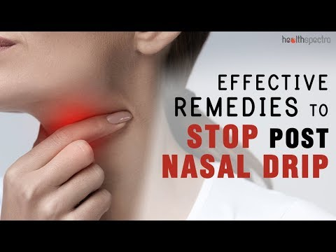 How to stop post nasal drip without medication -