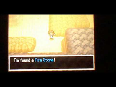 pokemon black and white 2 how to get a fire stone and evolve a growlithe into a arcanine