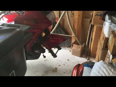 Swapping Both Motorcycle Tires on ST1100