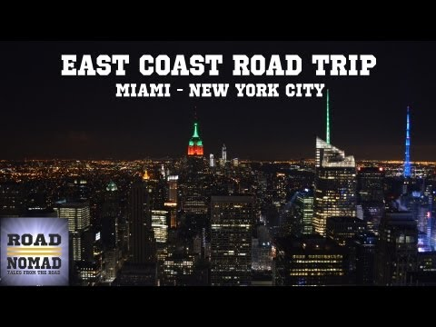 Road Trip From Miami to New York, and back (Complete Video) | Traveling Robert