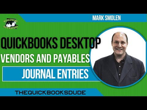 Learn QuickBooks JOURNAL ENTRIES - For Vendors