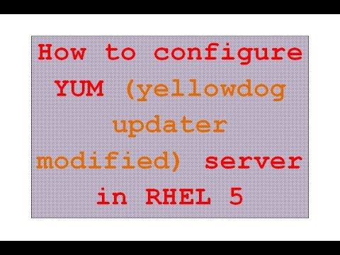 How to configure YUM Server on local server machine - RHEL5