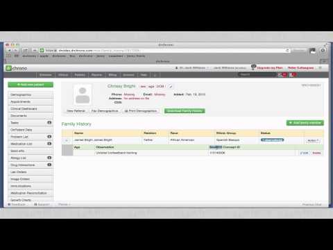 Tutorial: Meaningful Use Stage 2 - Family History // drchrono EHR