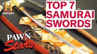 Pawn Stars: TOP 7 SAMURAI SWORDS | History