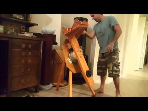 Motorized Friction Based Polar Disk Telescope Mount