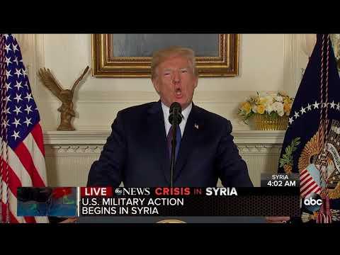 President Trump orders strikes on Syria