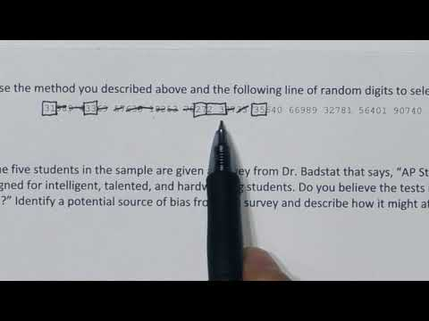 How to do a Simple Random Sample SRS