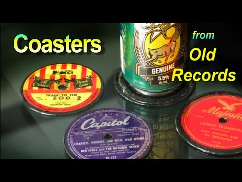 How to Make Coasters Out of Old Records