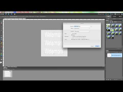 How to add a customised watermark to your images using Photoshop Elements 9