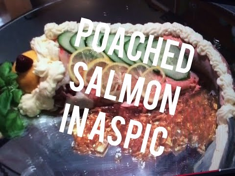 Salmon Recipes Poached Sockeye Shaping Decorating Aspic Mirror