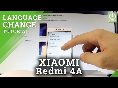 How to Change Language in XIAOMI Redmi 4A - Language Settings