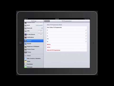 iPad Parental Controls - How to enable Restrictions