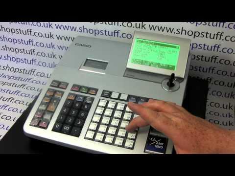 Casio SE-S400 / SE-S800 Cash Register Instructions: How To Program A PLU Product Price