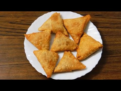 How To Make Baked Samosa And Fried Samosa At Home | baked vegetable samosa recipe