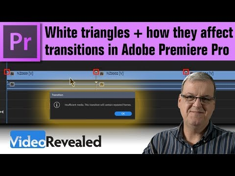 White Triangles and how they affect Transitions in Premiere Pro