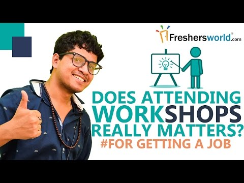 How does workshops boost your CV in getting a job - by Arunabha Bhattacharjee