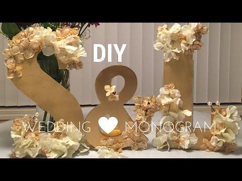 DIY Wedding Decorations: WOODEN MONOGRAM SET tutorial