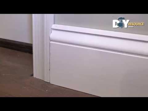 Install Baseboard Molding Against Door Jamb
