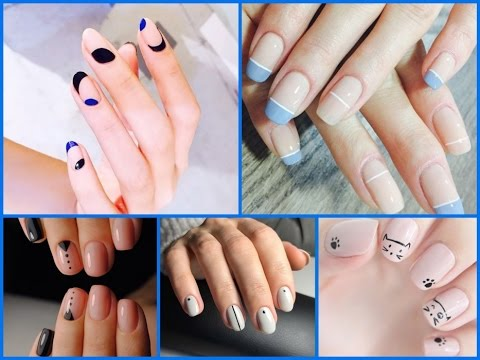 25  Trendy Minimalist Nail Art  -  Easy Nail Art Designs
