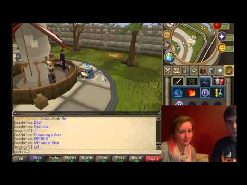 Girl learns to play runescape