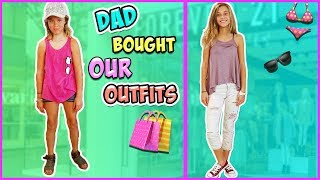 COLOR BLIND DAD VS MOM!! OUTFIT BUYING CHALLENGE!!