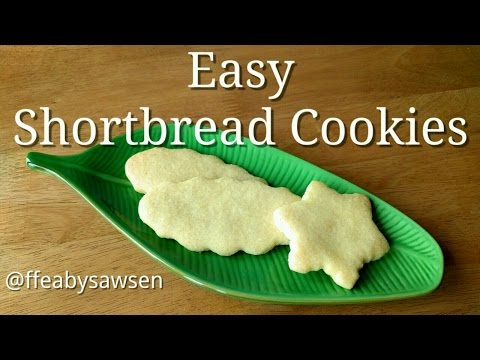 How to make easy butter shortbread cookies - egg free recipe, vegan option